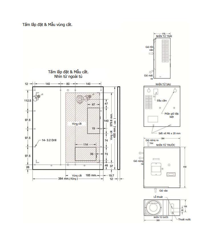 cách lắp đặt tủ điện 300w