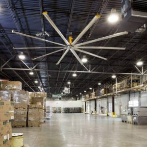 Quạt trần 7.3m hvls cho nhà máy công nghiệp – Nhà hàng cà phê