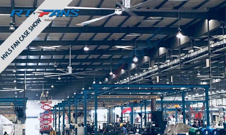 quạt trần hvls công nghiệp cho kho xưởng