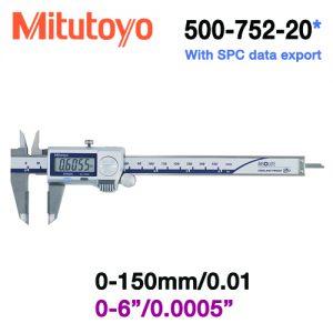 Thước cặp điện tử chống nước Mitutoyo 500-752-20, 0-150mm/0.01mm (Dual scale)
