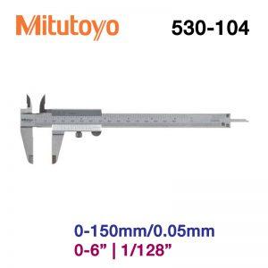 Thước cặp cơ khí Mitutoyo 530-104 0-150mm/0.05mm