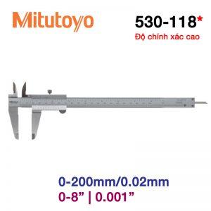 Thước cặp cơ khí Mitutoyo 530-118 0-200mm/0.02mm