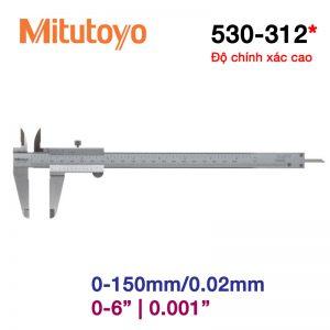 Thước cặp cơ khí Mitutoyo 530-312 0-150mm/0.02mm
