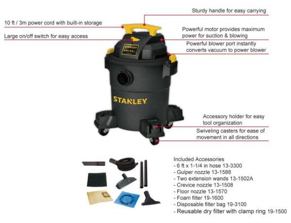 Máy hút bụi công nghiệp Stanley USA-SL19116P