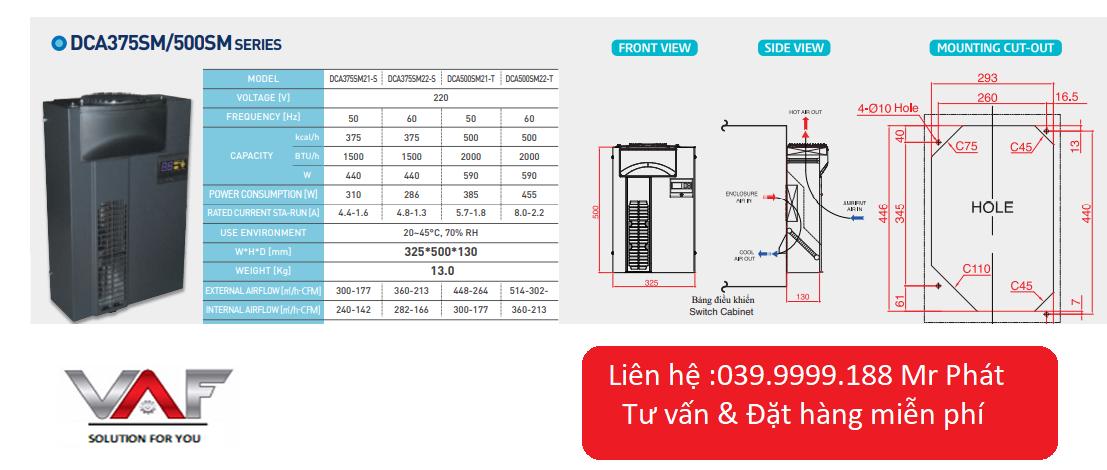 Điều hòa tủ điện DCA500SM