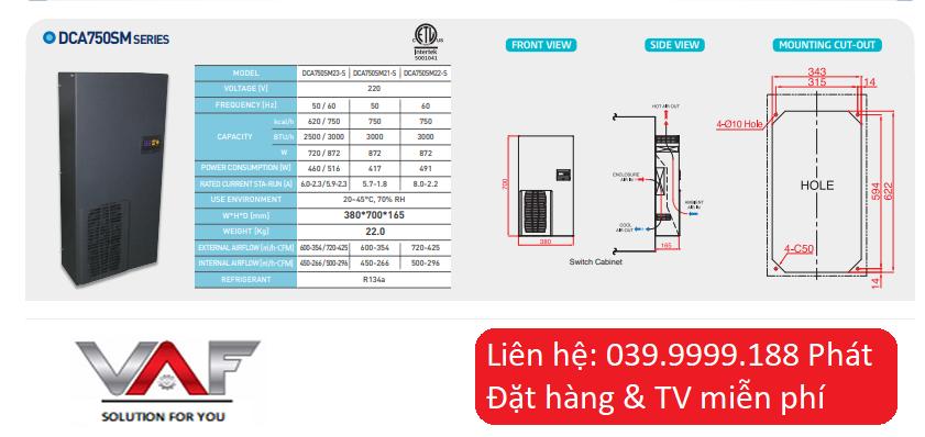 Điều hòa tủ điện daeyang DCA750SM23-S