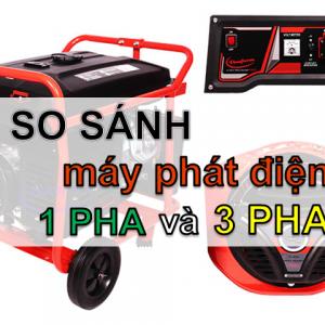máy phát điện 1 pha và 3 pha