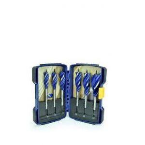 6pc Set 10, 13, 16, 19, 22, 25  mm – Plastic Wallet bo/6cay Bộ mũi khoan gỗ – đuôi cá (152mm)   IRWIN Model 10502826