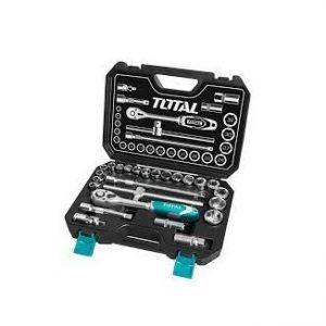 Bộ 25 cái socket (1/2 inch) & cần 2 chiều Total Model THT121251
