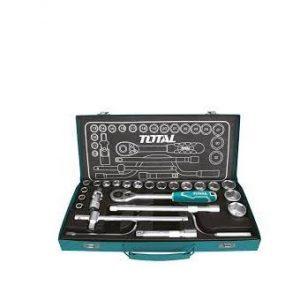 Bộ 24 cái socket (1/2 inch) & cần 2 chiều Total Model THT141253