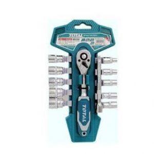 Bộ 12 cái socket   (1/2 inch) & cần 2 chiều Total Model THT141121