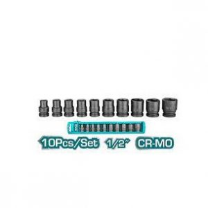 Bộ 10 đầu tuýp Impact DR 1/2 inch Total Model THISTD12101